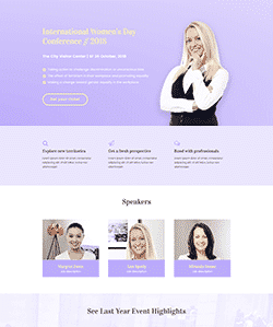Landing-Page-International-Womens-Day-Conference